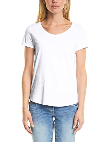 Cecil Damen T-Shirt 311994 Anisa, Weiß (White 10000), Large