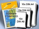 Encaustic Malkarten seidenmatt weiß 3x10 Stück (DIN A6, A5, A4)