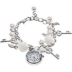 Women's Girl's Quartz Charms Bracelet Wrist Watch