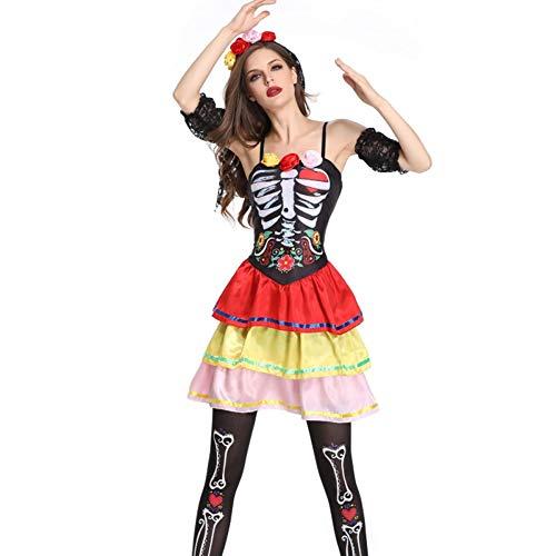 TUWEN Halloween-KostüM Horror Ghost Braut Verloren KostüM Spiel Anzug Bar BüHne Vampir DäMon Leistung KostüM