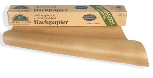 If You Care Backpapier Rolle - 100{de38e6809e94bf1677cd14a12958db083132efab6249d4ab823f12f228c2a826} ungebleicht aus FSC Papier, 2er Pack (2 x 10 m)