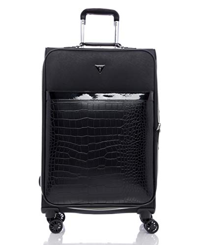 """Guess Zelzah Collection 24"""" 8-Wheeled Spinner, Black"""