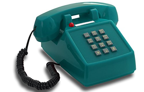 OPIS PushMeFon cable: teléfono fijo retro de teclado de los años 197