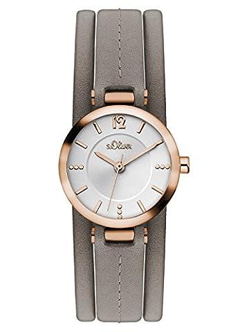 s.Oliver Damen-Armbanduhr Analog Quarz Leder SO-3120-LQ