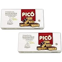 Picó - Pack incluye 2 Turrón de mazapán a la naranja bañado al chocolate - Calidad