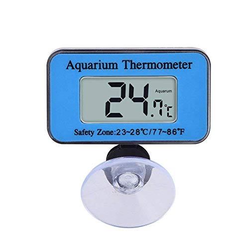 Ouken Aquarium-Thermometer mit Saugnapf Digital-Temperatur-Sensor-Fisch-Behälter-Wasser LCD-Thermometer