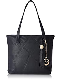 Ladida Ladida Collection Women's Tote Bag With Pouch And Charm (Black) (Set Of 3) (2017-30 BLACK)