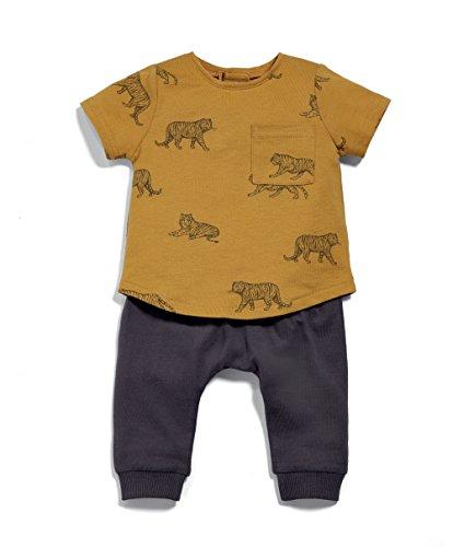 Mamas & Papas Baby-Jungen Bekleidungsset 2 Piece Mustard Tee & Jogger, Orange (Mustard), 8 Preisvergleich