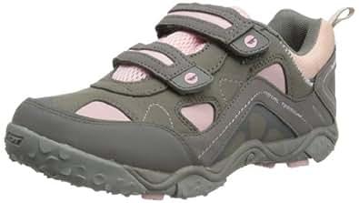 Hi-Tec Tt Ez Sport Waterproof, Girls' Hiking Boots, Hot Grey/Candy/Bubblicious, 4 UK