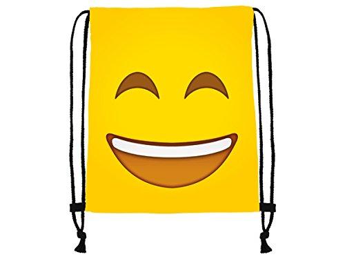 it Lachendes Gesicht Smiley Emoticon Emoticons Smilie Motiv Aufdruck Sportbeutel Tüte Rucksack Beutel Tasche Gym Bag Gymsack Hipster Fashion Sport-tasche Einkaufs-tasche RU-188 (Smilie Gesicht)