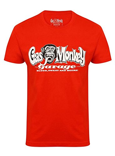 Gas Monkey Garage T-Shirt OG Logo, Größe:L, Farbe:red