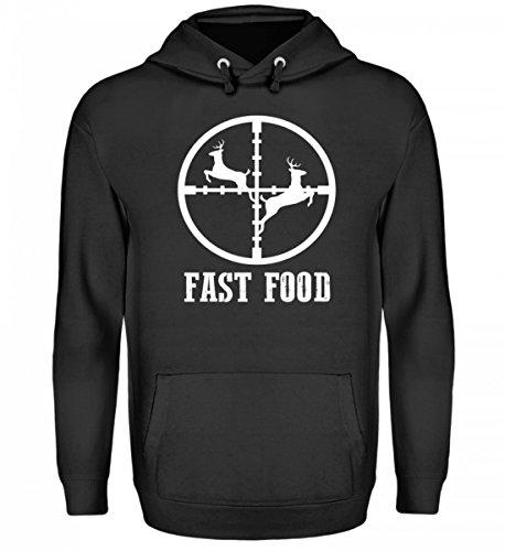 (SwayShirt Hochwertiger Unisex Kapuzenpullover Hoodie - für den Jäger · Jagen · Jagd · Jagdhund · REH · Förster · Wald · Fast Food · Echte Männer · Jägerbekleidung · Geschenkidee)