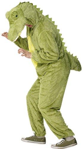 Imagen de cocodrilo traje disfraz, tamaño adulto con capucha  de smiffy m