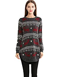 shineflow - Jerséi - Casual - para Mujer Negro Mujer Punto Navidad Suéter De