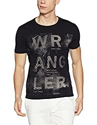 Wrangler Mens T-Shirt (8907649211649_W2472423344C_XL_Black)