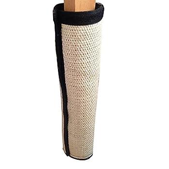 PanDaDa Tapis Griffoir en Sisal Jouet Polyvalent Enroulable Protection Griffures de Chat pour Table Chaise-40*30CM