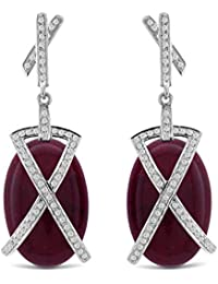 Aastha Jain Red Sterling Silver Earring For Women