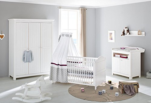 Pinolino 101617Y 3-Teilig, Kinderbett, Wickelkommode, gebraucht kaufen  Wird an jeden Ort in Deutschland