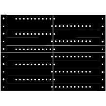 Pulseras Brazaletes de Identificación Vinilo, 50 Piezas, Negro