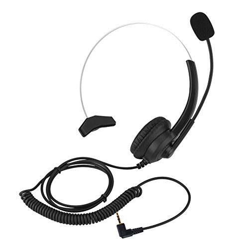 elling Call Center Headset,Komfortables Tragen Lossless Sound Telefon Headset für Computer, Telefon, Desktop Box, Andere Geräte(2.5mm Stecker) ()