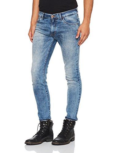 Wrangler Herren Slim Jeans Larston Blau (Blue Mick 88Y)