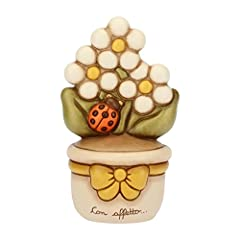 Idea Regalo - THUN Vasetto con Margherite, Ceramica, h 16,5 cm