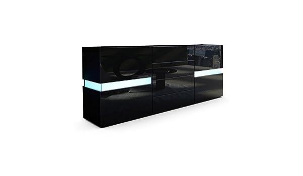 Credenza Moderna Modello Lecce : Credenza moderna faro mobile nero con led amazon casa e cucina