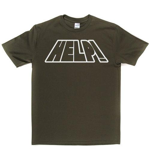 HELP Slogan Quote Funny Save me Tee T-shirt Militärgrün