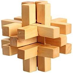 Juguete de bloqueo de madera - TOOGOO(R)14 PCS juguetes de bloqueo de rompecabezas de China tradicional de madera para adultos y chicos