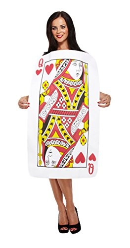 Ladies Adult Playing Card Queen of Hearts Hen Night Costume Funny Silly Outfit(L/XL) (Womens Queen Of Hearts Kostüm)