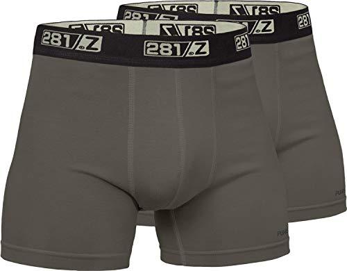 281Z Militär-Unterwäsche, Baumwolle, 10,2 cm, Boxershorts - taktisches Wandern, Outdoor - Punisher Combat Line, Herren, Olive Drab (2 Pack), Large -