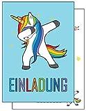 the lazy panda card company 15 Einladungskarten Kindergeburtstag Dabbing Einhorn Geburtstagseinladungen Einladungen Geburtstag Kinder Jungen Mädchen (15 Karten mit 15 Umschlägen Briefumschlägen)