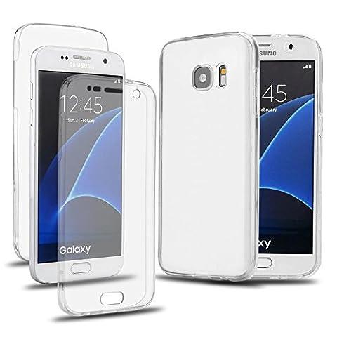 NWNK13® Samsung Galaxy S7edge/G935F (14cm pouce) en Silicone recouvert de 360°/TPU/peau/Coque/gel avec organiseur de la marque Samsung Galaxy S7edge / G935F Clear / 360