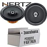 Hertz DCX 165.3-16cm Koax Lautsprecher - Einbauset für Peugeot Partner - JUST SOUND best choice for caraudio