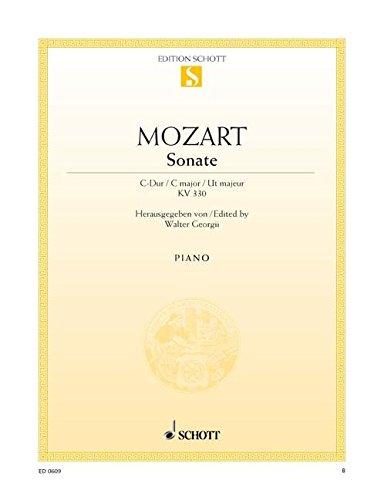 Sonate C-Dur: KV 330. Klavier. (Edition Schott Einzelausgabe)