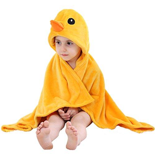 Meer Kostüme Dem Unter Einfach (MICHLEY Baby Bademantel Tier Kapuzen Handtuch Soft Fleece Baden Wrap Decke für Jungen und)