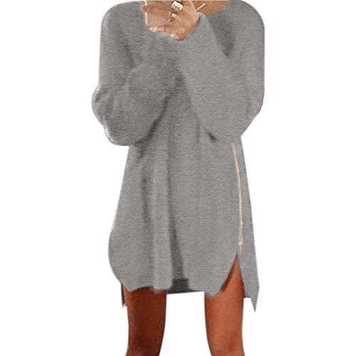 Vestido de las mujeres, Amlaiworld Botón de la moda Vestido lápiz (XL, Gris)