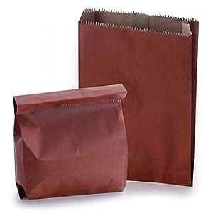 rouge pais sacs papier kraft medium 20 cm x 32 cm 7 cm lot de 500 cuisine maison. Black Bedroom Furniture Sets. Home Design Ideas