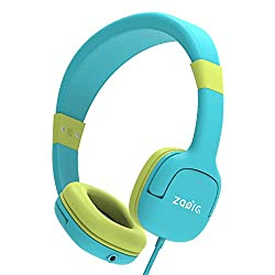 ZAPIG kopfhörer für Kinder mit 85dB Lautstärkebegrenzung Gehörschutz & Musik-Sharing-Funktion, Faltbare Kinderkopfhörer-Grün