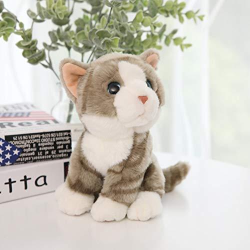 XdremYU Nettes Auto verzieren Verzierungsinnengeschenk-Ideen-Familien-Büro-Haus Simulation Katze Tier Plüsch Puppe Stofftier Auto Dekor Kinder Kinder Geschenk
