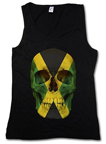 ica Jamaican Skull Flag Damen Tank Top - Totenkopf Jamaika Fahne Rasta Irie Damen Tank Top Größen S – XL (Fotos Von Jamaika)