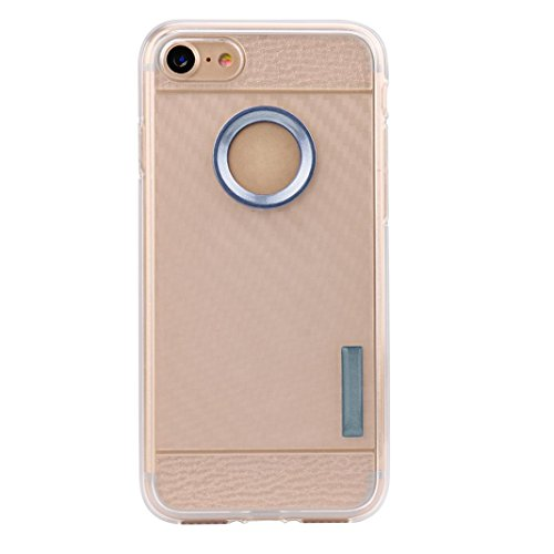Ouneed® Für iPhone 7 Hülle, Thin Soft Protection Silicone Gel Case Cover For IPhone 7 4.7 Zoll (Gold) Marine