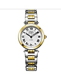 Ladies Womens Two Tone Stainless Steel Quartz Battery Rotary Watch 'Lucerne' on Bracelet with Sapphire Glass. LB90188/01