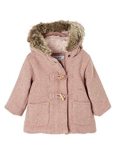 fe58bbb32d3ff Vertbaudet Manteau laineux bébé Fille doublé Fourrure Rose Blush 3M - 60CM