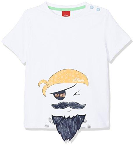 s.Oliver Baby-Jungen T-Shirt 65.804.32.5115, Weiß (White 0100), 62