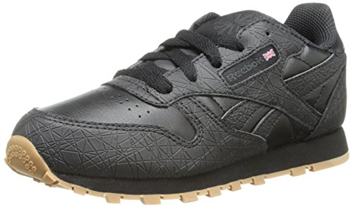 Reebok Classic Leather BTS Black Youths Trainers Noir