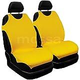 (TB-Y) T-SHIRT (100% Algodón) Universal Fundas de asientos compatible con TOYOTA (AURIS, AVENSIS, AYGO, COROLLA, PRIUS, RAV4, STARLET, YARIS) (para dos asientos)
