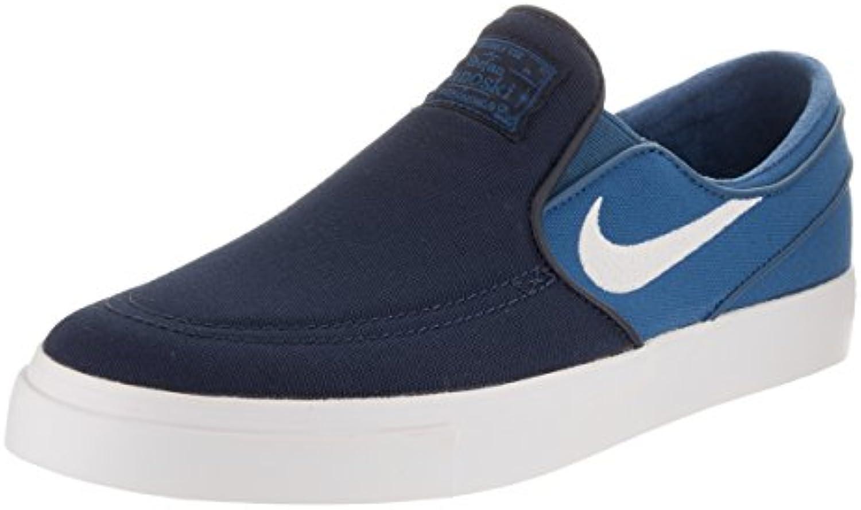 Zapatillas Nike Zoom para hombre Stefan Janoski Slip Cnvs Obsidian / White / Industrial Blue 11,5 Hombre EE. UU.