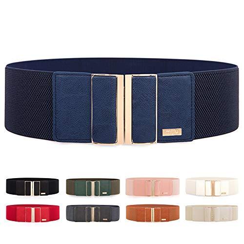 Cintura di largo elastica da donna in regolabile mijiu cintura con fibbia della lega diversi colori