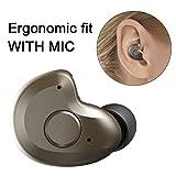 Bluetooth Headset, 3,8g V4.1 Mini Bluetooth Headset Wireless Earbuds für Rechtes Ohr Bluetooth Earbuds mit Mikrofon für Handy Smartphones,Android, PC und andere Bluetooth Geräte von AngLink(Braun)